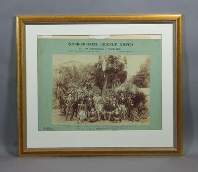 Victorian Team: Intercolonial Match - South Australia - Victoria, Adelaide 1894; Photography; Framed; M7640