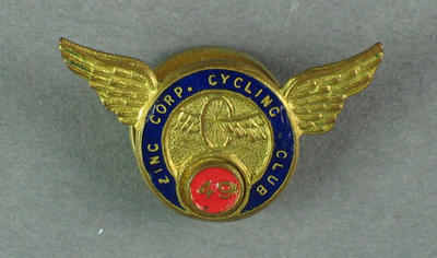 Cufflink - Zinc Corp Cycling Club [19]46; Clothing or accessories; 1993.2895.70
