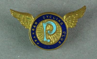 Cufflink - Prahran Cycling Club; Clothing or accessories; 1993.2895.71