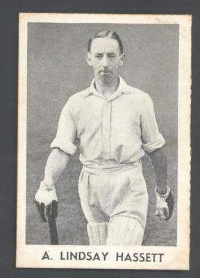 1947 Radio Fun Famous Test Cricketers A Lindsay Hassett trade card