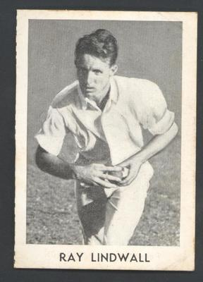 1947 Radio Fun Famous Test Cricketers Ray Lindwall trade card