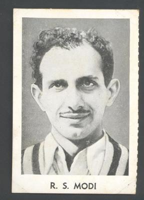1947 Radio Fun Famous Test Cricketers R S Modi trade card