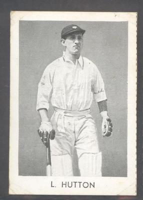 1947 Radio Fun Famous Test Cricketers L Hutton trade card; Documents and books; M7155.13