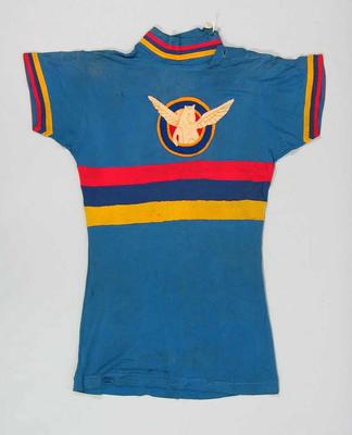 Blue cycling shirt worn by Bert Smith c. 1930