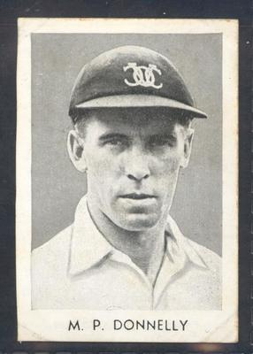 1947 Radio Fun Famous Test Cricketers M P Donnelly trade card