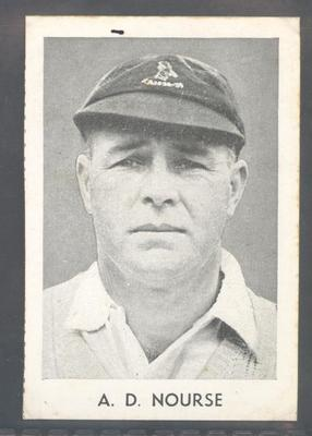 1947 Radio Fun Famous Test Cricketers A D Nourse trade card