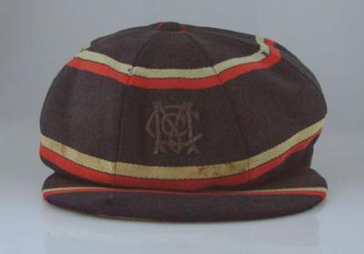 MCC cricket cap worn by Keith Rigg