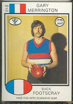 1975 Scanlens VFL Football Gary Merrington trade card