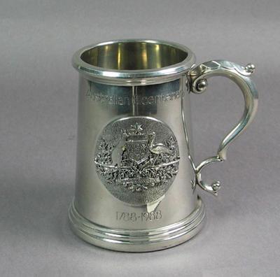 Commemorative tankard, Australian Bicentenary; Domestic items; M8011
