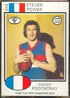 1975 Scanlens VFL Football Steven Power trade card