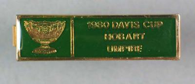 1980 Davis Cup umpire's tie clip