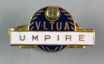 1984/85 VLTUA umpire's tie clip