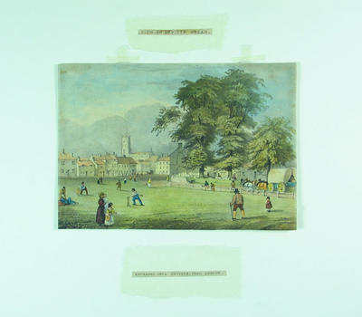 "Lithograph, ""View on Devizes Green"""