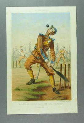 "Caricature, ""Angleterre - Oxford University, Rifle Volunteers"" by Jules Renard-Draner"