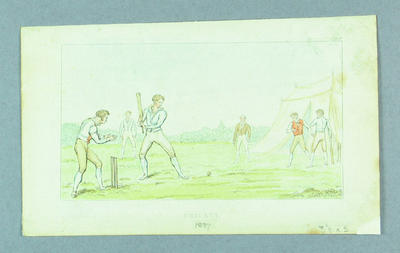 "Print entitled ""Cricket"", c.1837"