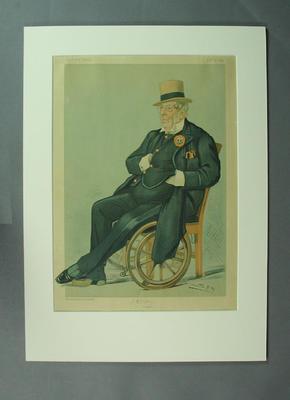 Vanity Fair 1895  - 'I. Zingari' (John L. Baldwin ) artist 'Spy'