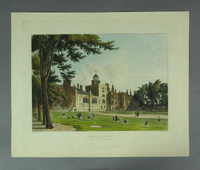 "Engraving:  ""Charter House from the Play Ground"""