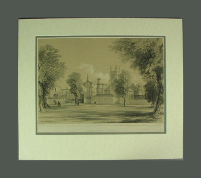 """Lithograph, """"Commoners Court""""; Artwork; M8590"""