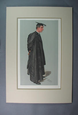 Coloured Vanity Fair Spy lithograph, depicting Rev Burge