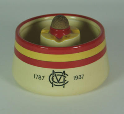 Ashtray, Marylebone Cricket Club 1787-1937