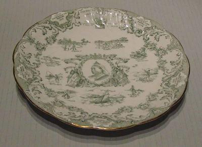 Plate, commemorates Queen Victoria Diamond Jubilee; Domestic items; M5029