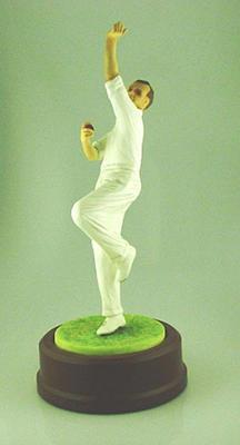 Ceramic figurine, Jim Laker