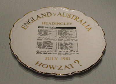 Plate, England v Australia Test at Headingley - July 1981