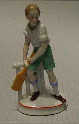 Figurine, boy cricketer