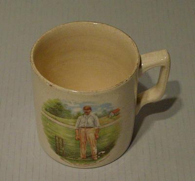 Mug, image of S F Barnes; Domestic items; M5055