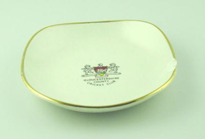Small dish, Gloucestershire County Cricket Club logo