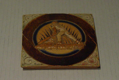 Tile, image of cricketer