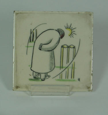 Tile, image of cricket umpire