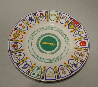 Plate, County Cricket Champions - Leicestershire 1975