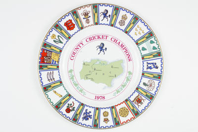 Plate, County Cricket Champions - Kent 1978; Domestic items; M5063