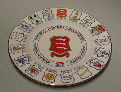 Plate, County Cricket Champions - Essex 1979; Domestic items; M5064