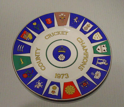 Plate, County Cricket Champions 1973