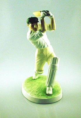 Coalport china figurine of Don Bradman