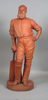 Terracotta figurine, W G Grace, sculptor E. Roscoe Mullins 1885