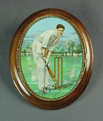 Plaque, image of Percy Chapman; Civic mementoes; M5100
