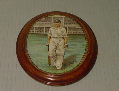 Plaque, image of Sir John Hobbs