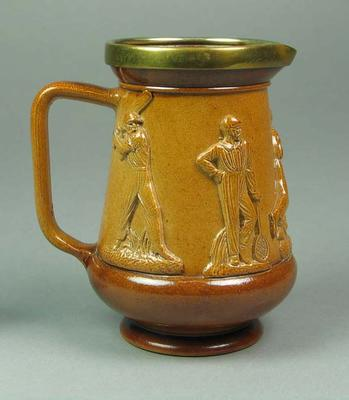 Pottery jug, images of W G Grace