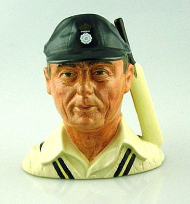Figurine, bust of cricketer - Hampshire County Cricket Club