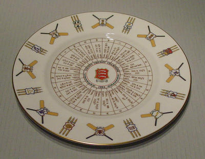 Plate, County Cricket Champions 1984 - Essex; Domestic items; M5123