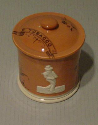 Tobacco jar lid, cricket design