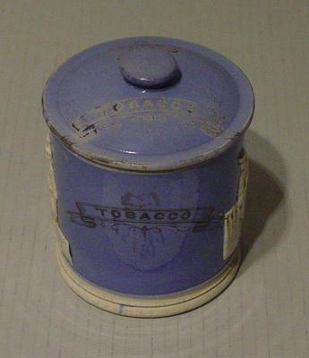 "Jar lid, ""Tobacco"""