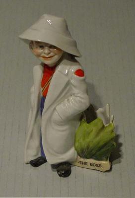"Boy cricketer figurine titled:   ""The Boss"""