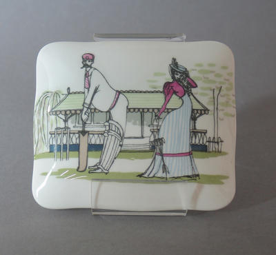 Trinket box, cricket design on lid