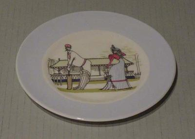 Plate, cricket design