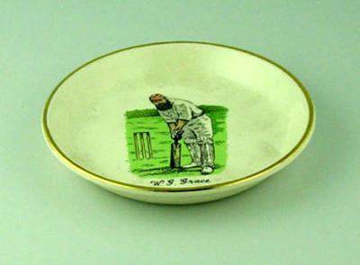 Plate, image of W G Grace