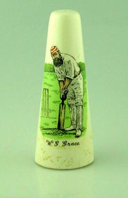 Salt shaker, image of W G Grace